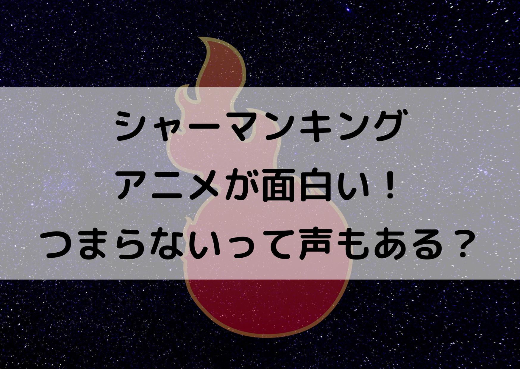 シャーマンキング アニメ 面白い