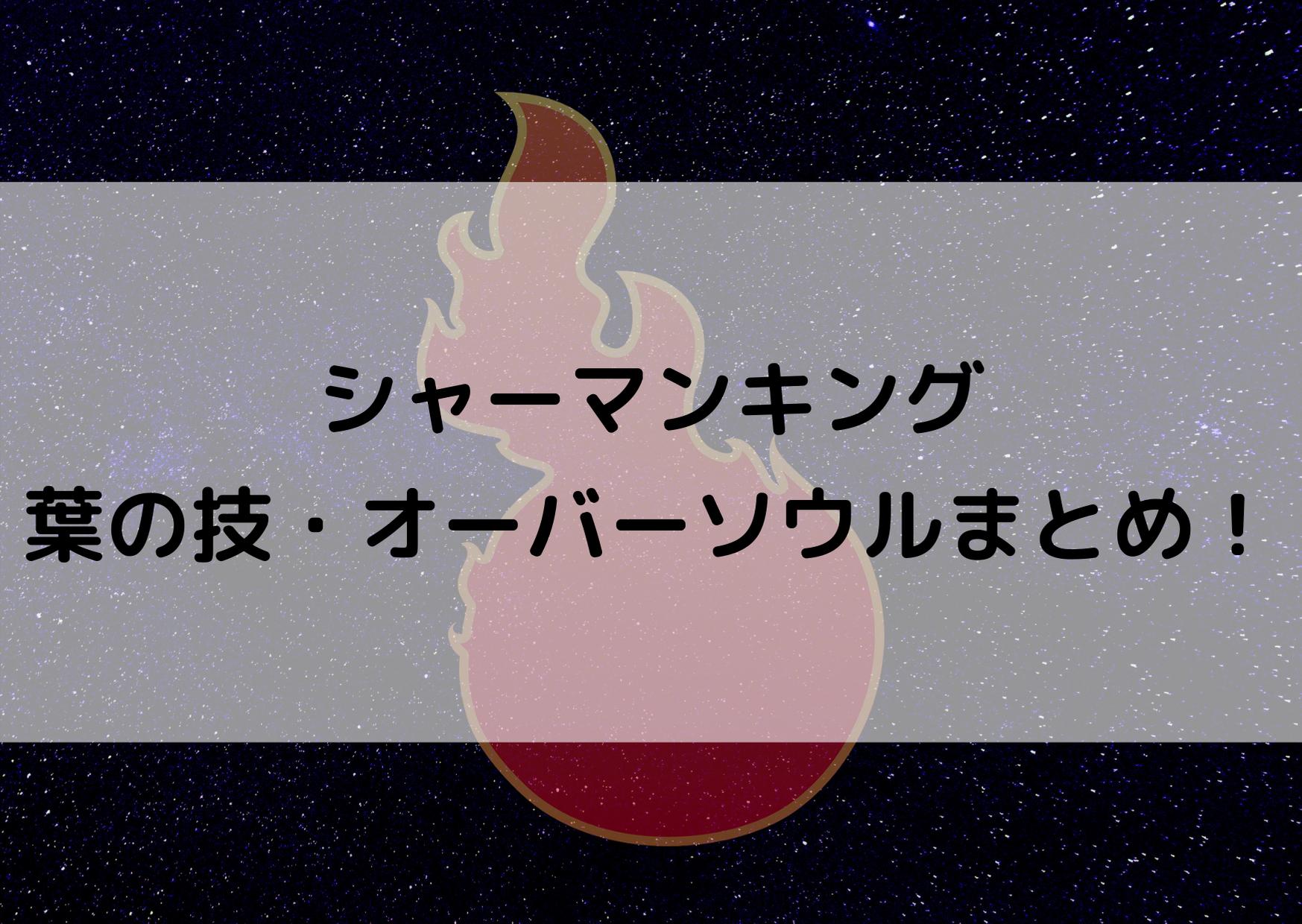 シャーマンキング 葉 技