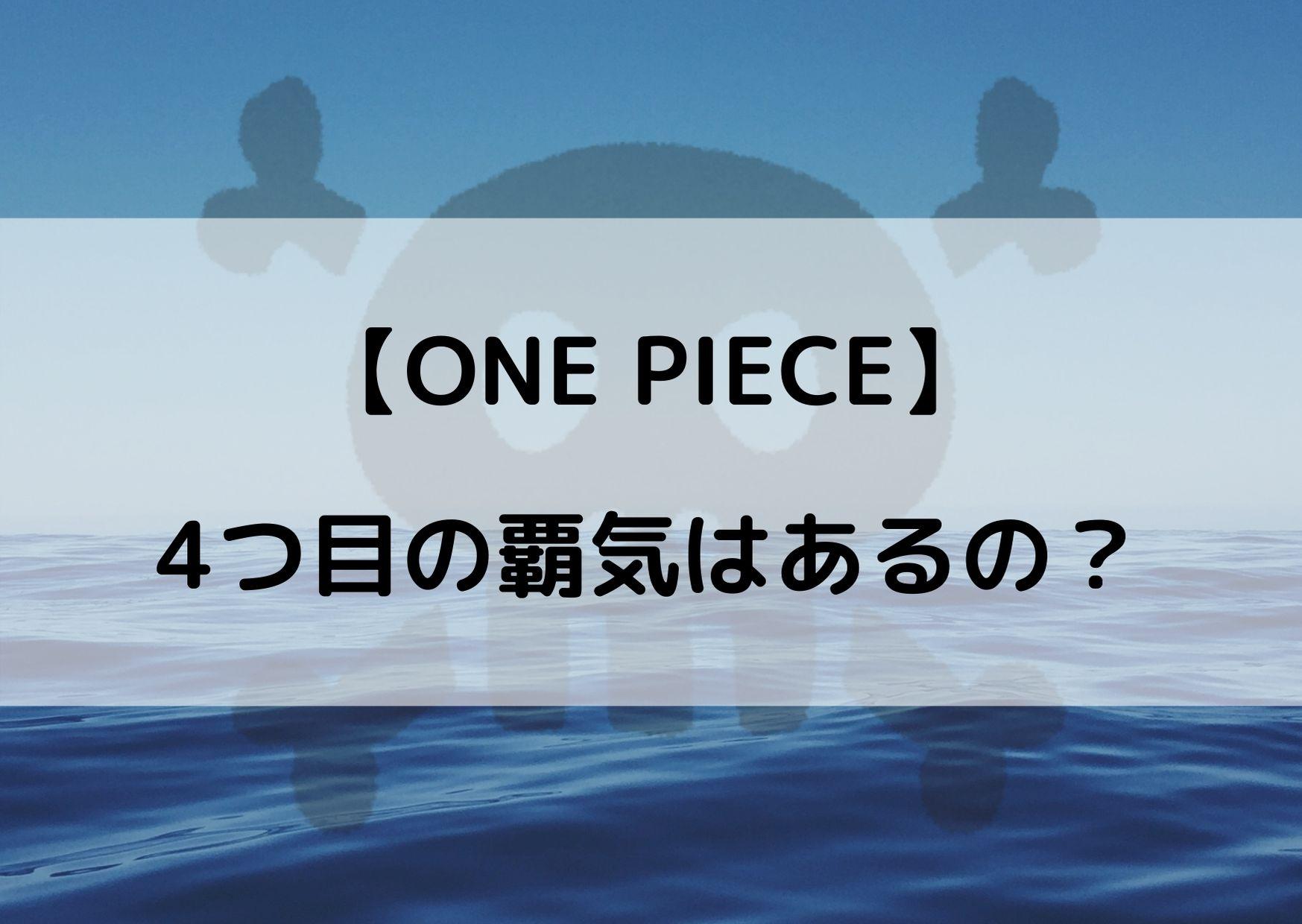 ワンピース 覇気 4つ目