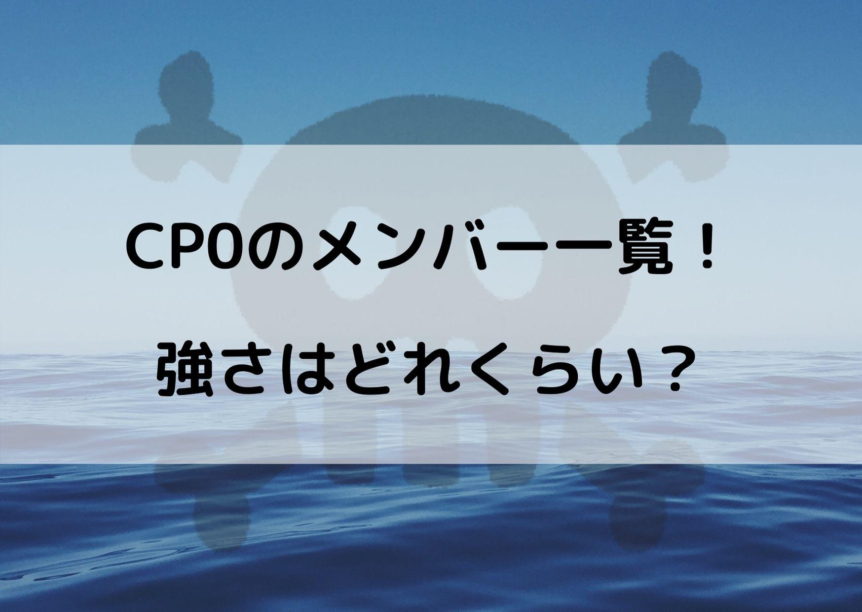 ワンピース CP0 メンバー